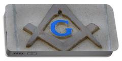 Blue G Portable Battery Charger by Michael Krek