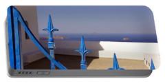 Blue Gate Portable Battery Charger by Debi Demetrion