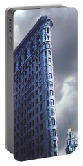 Blue Glow Flatiron Building New York Portable Battery Charger