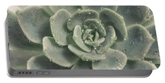 Blue Green Succulent 2 Portable Battery Charger
