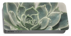 Blue Green Succulent Portable Battery Charger