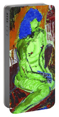 Blue Haired Nude Portable Battery Charger