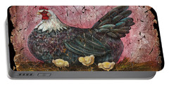 Blue Hen With Chicks Fresco Portable Battery Charger