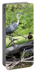 Blue Heron And Friend Portable Battery Charger