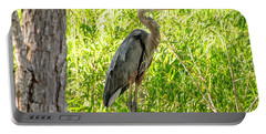 Blue Heron At Rest Portable Battery Charger