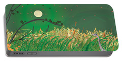 Blue Heron Grasses Portable Battery Charger by Kim Prowse