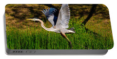 Blue Heron In Flight Portable Battery Charger