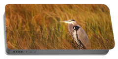 Portable Battery Charger featuring the photograph Blue Heron In Louisiana Marsh by Luana K Perez