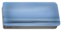 Blue Hour Beach Abstract Portable Battery Charger by Linda Villers