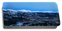 Blue Hour In Breckenridge Portable Battery Charger by Ronda Kimbrow