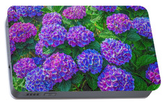 Portable Battery Charger featuring the photograph Blue Hydrangea by Hanny Heim