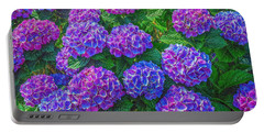 Blue Hydrangea Portable Battery Charger by Hanny Heim