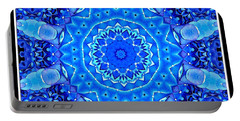 Portable Battery Charger featuring the photograph Blue Hydrangeas Flower Kaleidoscope by Rose Santuci-Sofranko