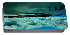 Portable Battery Charger featuring the photograph Blue Ice Flow by Amanda Stadther