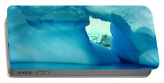 Blue Iceberg Antarctica Portable Battery Charger by Amanda Stadther