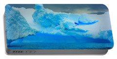 Portable Battery Charger featuring the photograph Blue Icebergs by Amanda Stadther