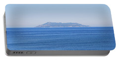 Portable Battery Charger featuring the photograph Blue Ionian Sea by George Katechis