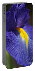 Blue Iris With Yellow Portable Battery Charger