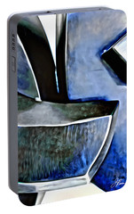 Portable Battery Charger featuring the painting Blue Iron by Joan Reese