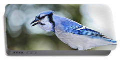 Blue Jay Bird Portable Battery Charger