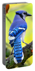 Portable Battery Charger featuring the photograph Blue Jay by Deena Stoddard