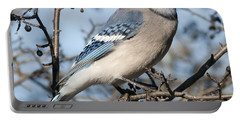 Blue Jay.. Portable Battery Charger by Nina Stavlund
