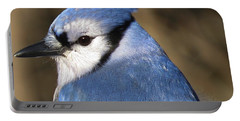 Blue Jay Profile Portable Battery Charger by MTBobbins Photography