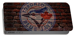 Blue Jays Baseball Graffiti On Brick  Portable Battery Charger