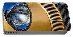 Blue Light On Gold Car Portable Battery Charger
