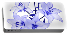 Portable Battery Charger featuring the photograph Blue Lily by Jane McIlroy