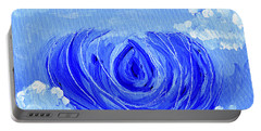 Blue Lotus In The Sky Portable Battery Charger