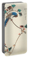 Blue Magpie On Maple Branch Portable Battery Charger