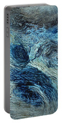 Blue Maze 1 Portable Battery Charger by Joyce Dickens