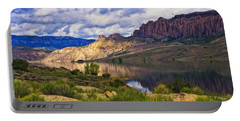 Blue Mesa Reservoir Digital Painting Portable Battery Charger