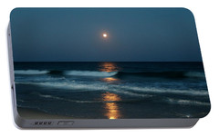 Portable Battery Charger featuring the photograph Blue Moon by Cynthia Guinn
