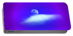 Blue Moon Lavender Sky Portable Battery Charger by Susanne Still