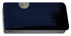 Blue Moon Portable Battery Charger by Randy Hall