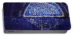 Blue Moonrise Original Painting Portable Battery Charger by Sol Luckman