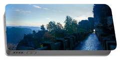 Blue Morning On The Bastei Portable Battery Charger
