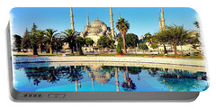 Blue Mosque Fountain Portable Battery Charger