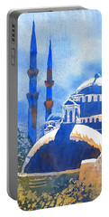 Blue Mosque In Blues Portable Battery Charger