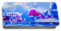Blue Mountain Haven On Earth Beautiful Snow Season Cool Kool   Pink White Rush Party Engage Chrismas Portable Battery Charger