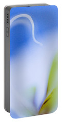 Portable Battery Charger featuring the photograph Blue Orchid Abstract by Bradley R Youngberg