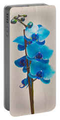 Blue Orchid Portable Battery Charger by Scott Carruthers