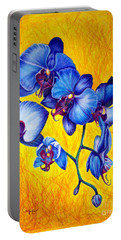Blue Orchids 1 Portable Battery Charger