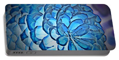 Blue Pine Cone 2 Portable Battery Charger by Chalet Roome-Rigdon
