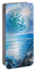 Blue Moon Portable Battery Charger by Greg Moores