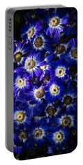 Blue Poem Portable Battery Charger by Edgar Laureano