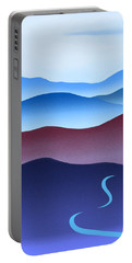 Blue Ridge Blue Road Portable Battery Charger by Catherine Twomey