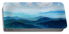 Blue Ridge Blue Skyline Sheep Cloud Portable Battery Charger by Catherine Twomey